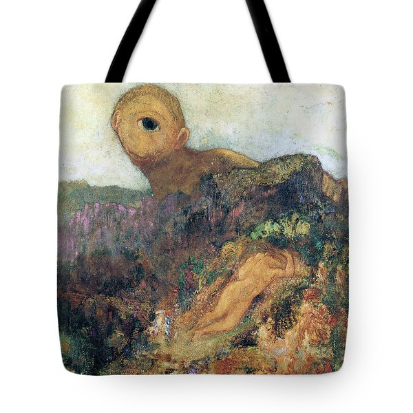 The Cyclops Tote Bag by Odilon Redon