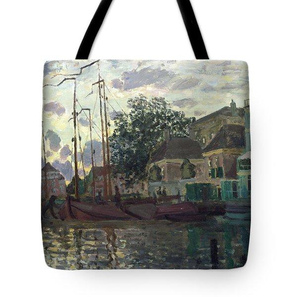 The Dam At Zaandam Tote Bag by Claude Monet