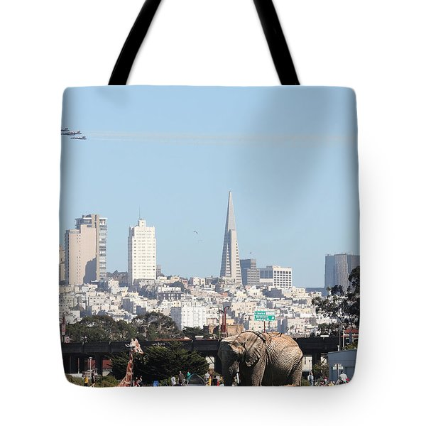 The Day The Circus Came To Town - Portrait Tote Bag by Wingsdomain Art and Photography