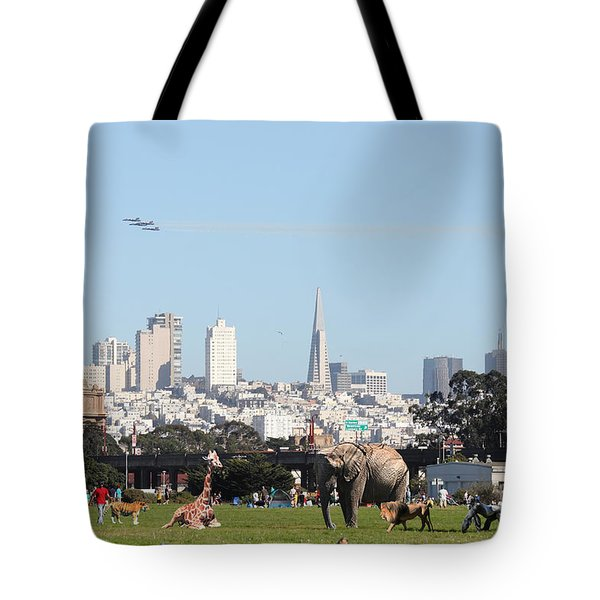 The Day The Circus Came To Town Tote Bag by Wingsdomain Art and Photography