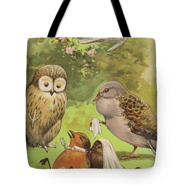 The Death Of Cock Robin Tote Bag by English School