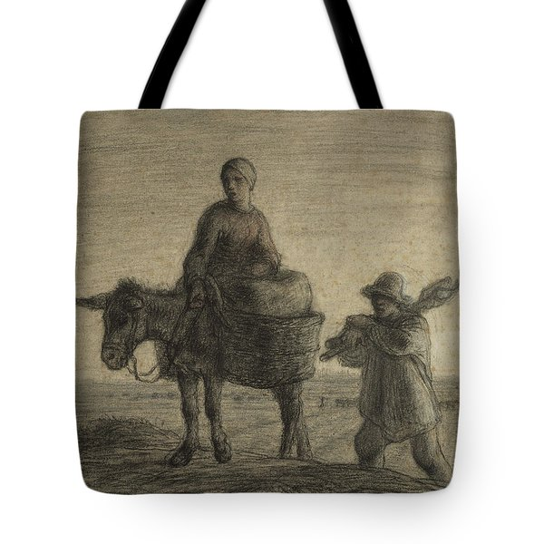 The Departure For Work Tote Bag by Jean-Francois Millet