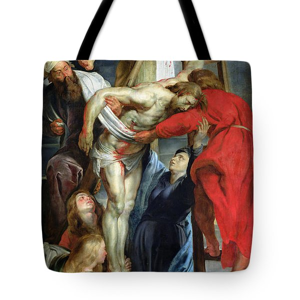 The Descent From The Cross Tote Bag by Rubens