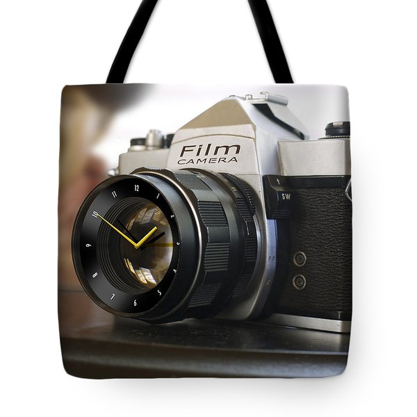 The Desk Clock Tote Bag by Mike McGlothlen