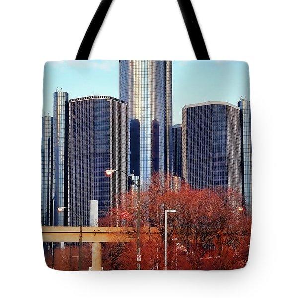 The Detroit Renaissance Center Tote Bag by Gordon Dean II