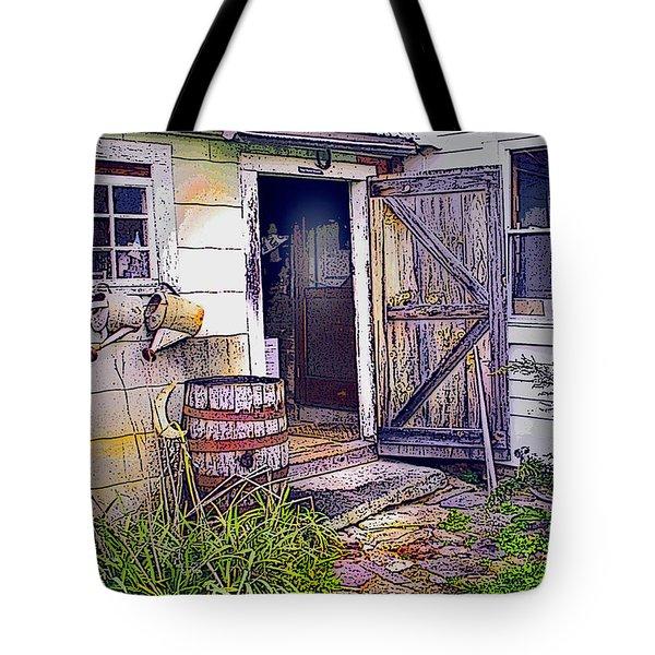The Door Is Always Open Tote Bag by Nancy Griswold
