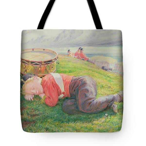The Drummer Boy's Dream Tote Bag by Frederic James Shields