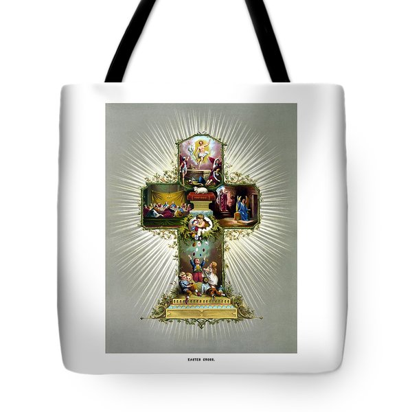 The Easter Cross Tote Bag by War Is Hell Store