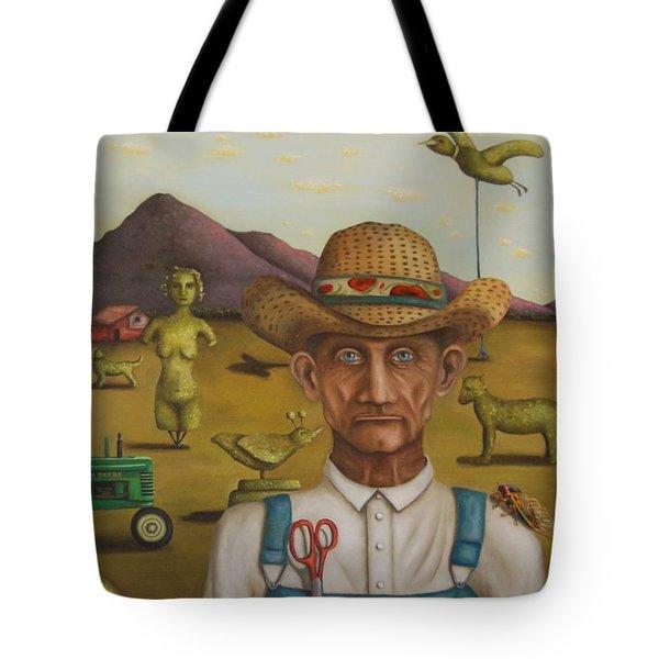The Eccentric Farmer Tote Bag by Leah Saulnier The Painting Maniac