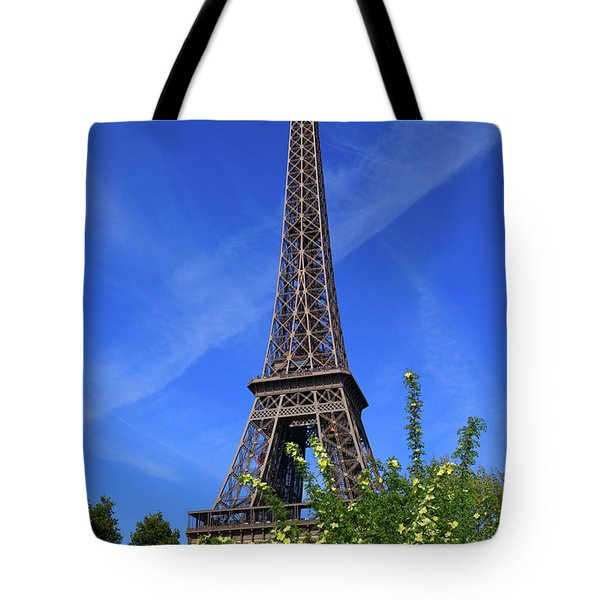 The Eiffel Tower in Spring Tote Bag by Louise Heusinkveld