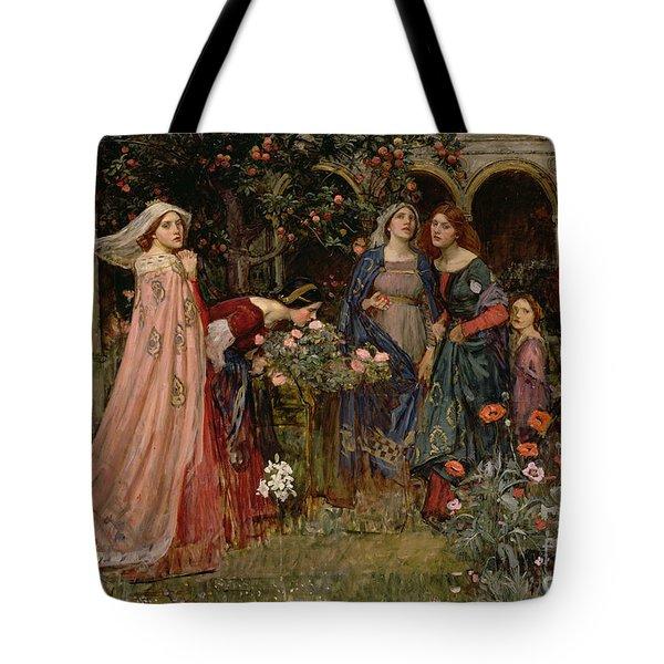 The Enchanted Garden Tote Bag by John William Waterhouse