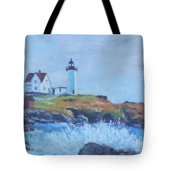 The End Of Summer- Cape Neddick Maine Tote Bag by Alicia Drakiotes
