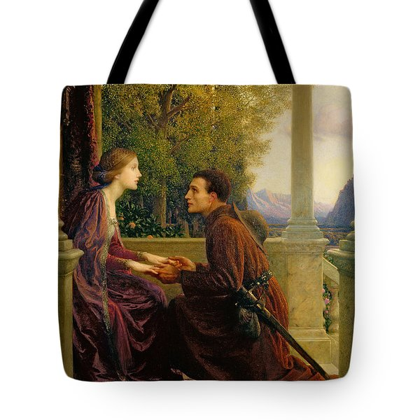 The End Of The Quest Tote Bag by Sir Frank Dicksee