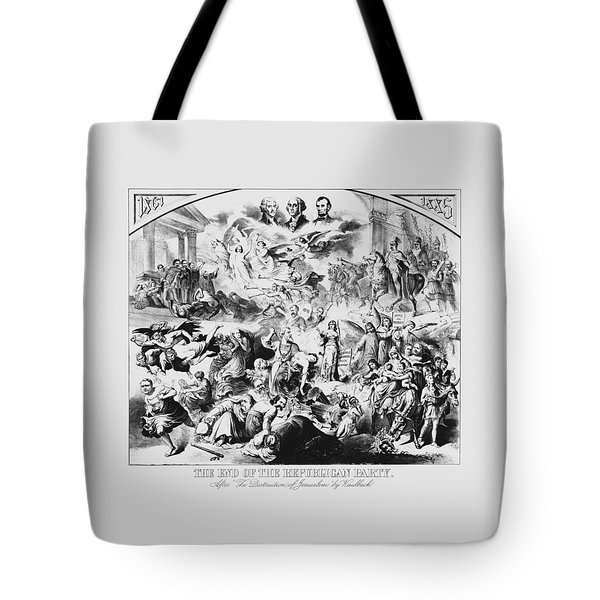 The End Of The Republican Party Tote Bag by War Is Hell Store