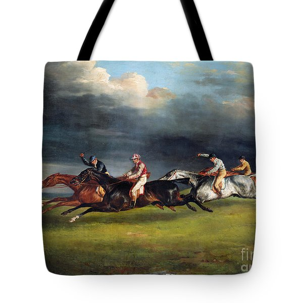 The Epsom Derby Tote Bag by Theodore Gericault