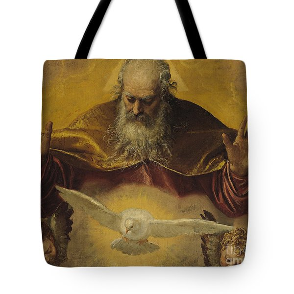 The Eternal Father Tote Bag by Paolo Caliari Veronese