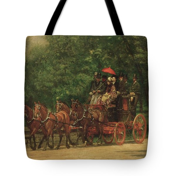 The Fairman Rogers Coach And Four  Tote Bag by Thomas Cowperthwait Eakins