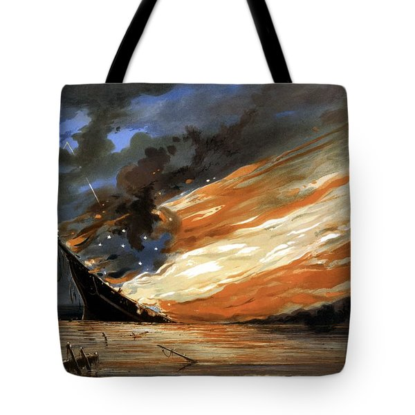 The Fate Of The Rebel Flag Tote Bag by War Is Hell Store