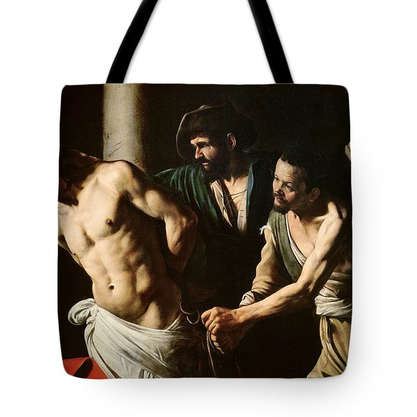 The Flagellation Of Christ Tote Bag by Caravaggio