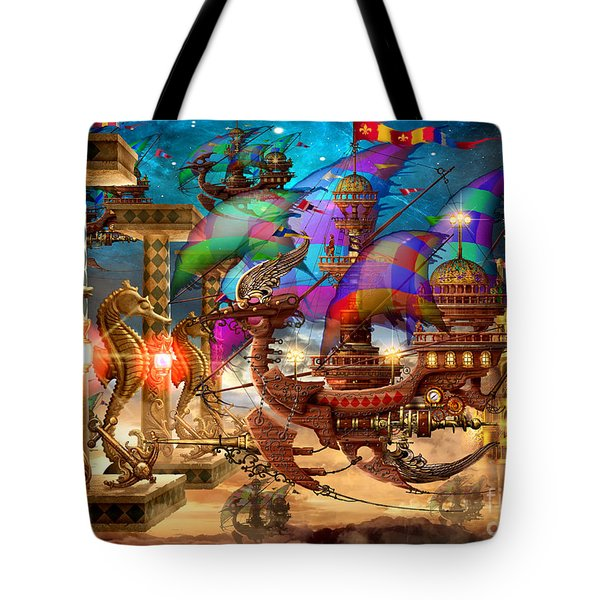 The Fleet Has Arrived Tote Bag by Ciro Marchetti