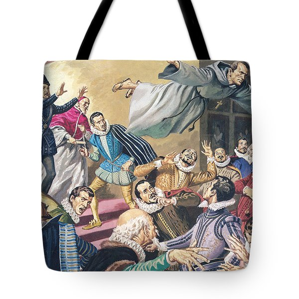 The Flight Of Father Dominic Tote Bag by English School