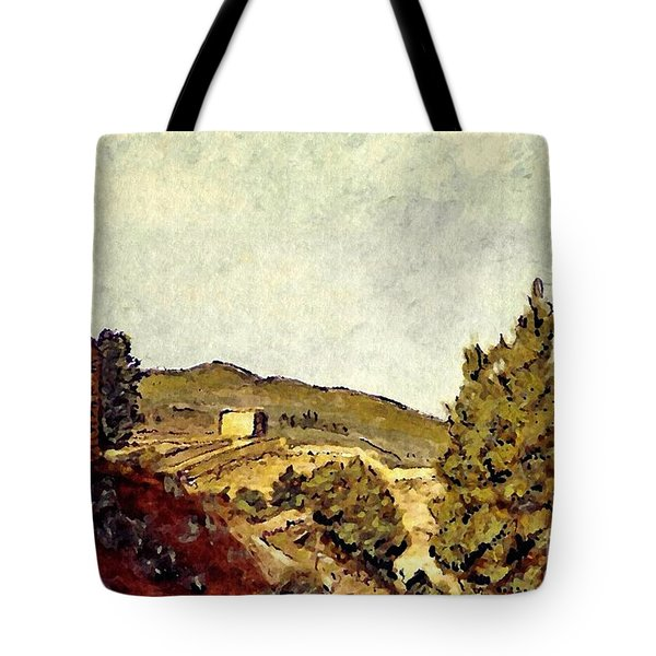 The Fort In Lorca Tote Bag by Sarah Loft
