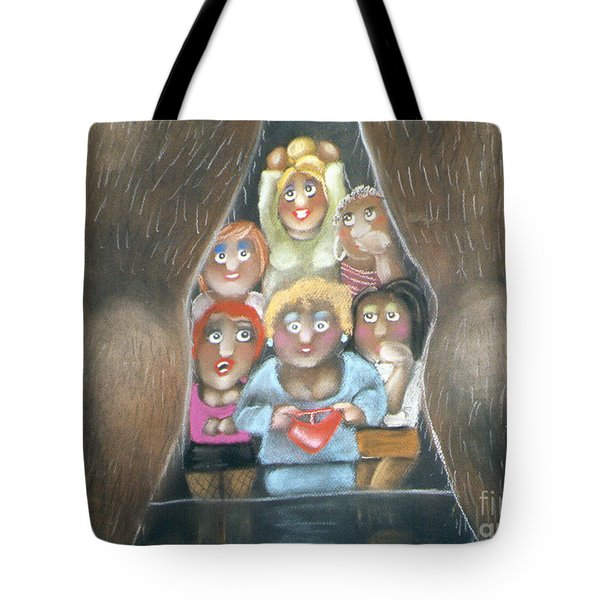 The Full Monty Tote Bag by Caroline Peacock