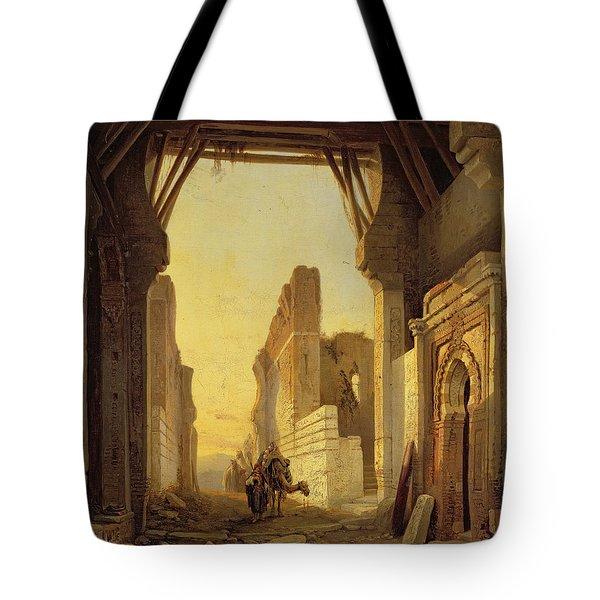 The Gates Of El Geber In Morocco Tote Bag by Francois Antoine Bossuet
