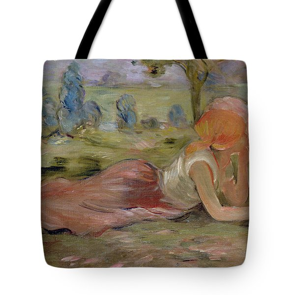 The Goatherd Tote Bag by Berthe Morisot