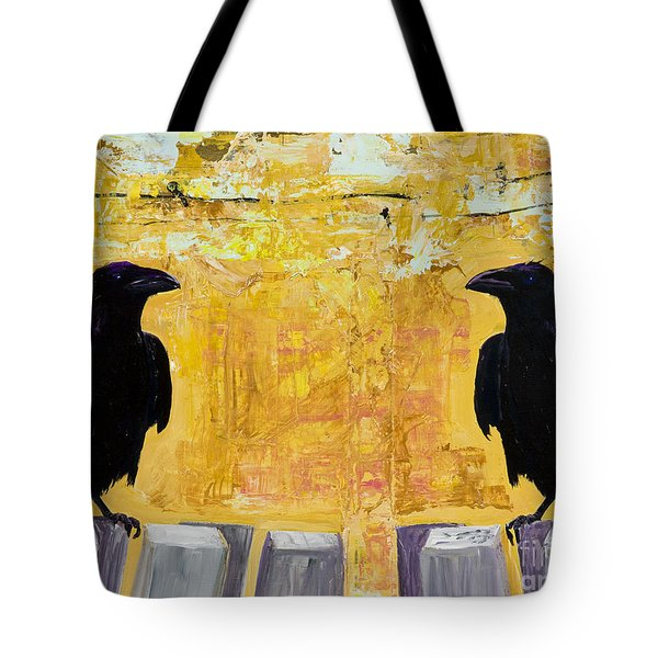 The Gossips Tote Bag by Pat Saunders-White