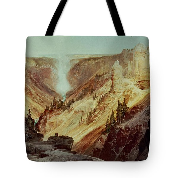 The Grand Canyon Of The Yellowstone Tote Bag by Thomas Moran
