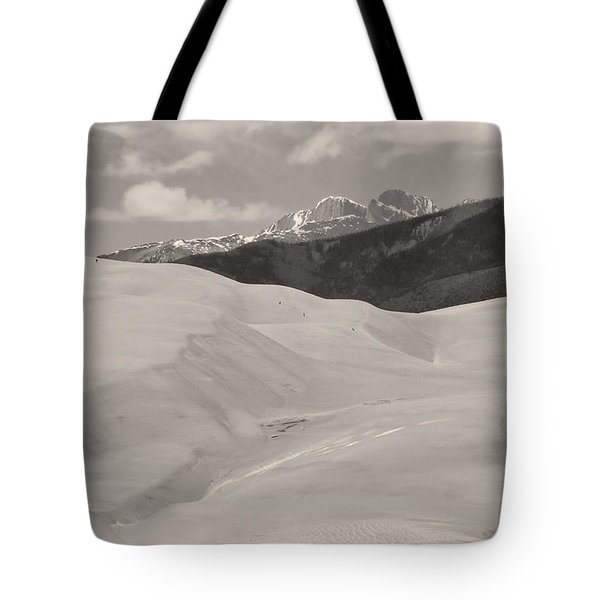 The Great Sand Dunes  BW Sepia Tote Bag by James BO  Insogna