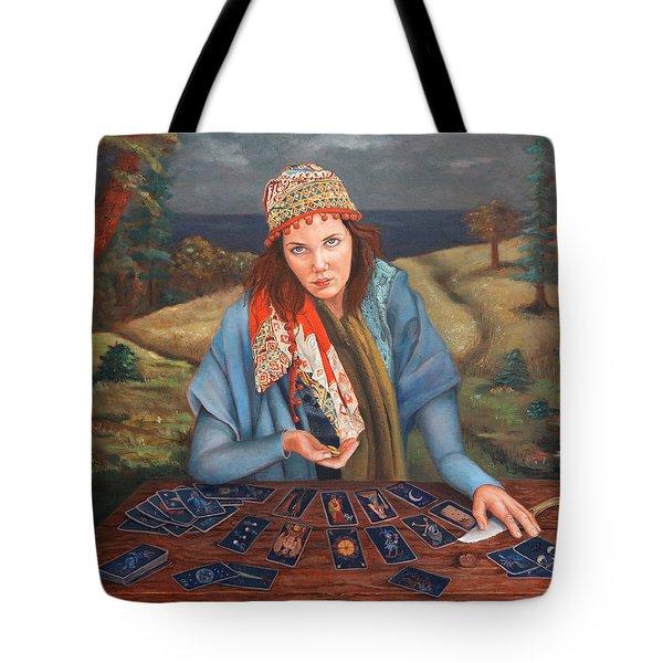 The Gypsy Fortune Teller Tote Bag by Enzie Shahmiri