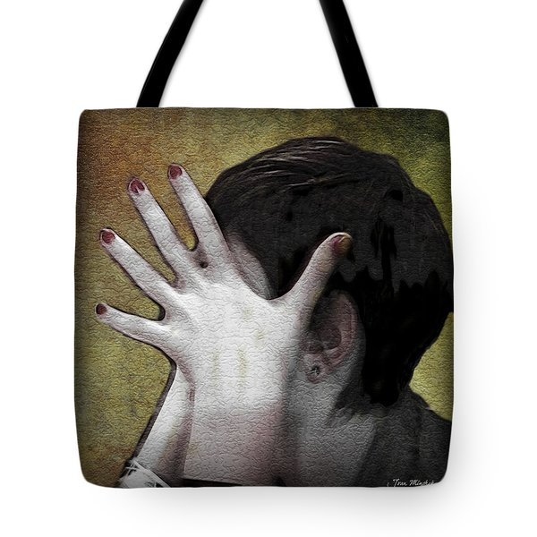 The Hand Tote Bag by Joan  Minchak