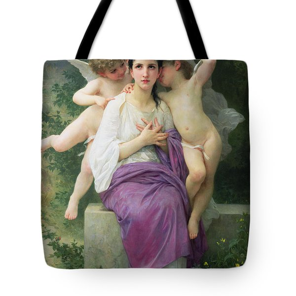 The Hearts Awakening Tote Bag by William Adolphe Bouguereau