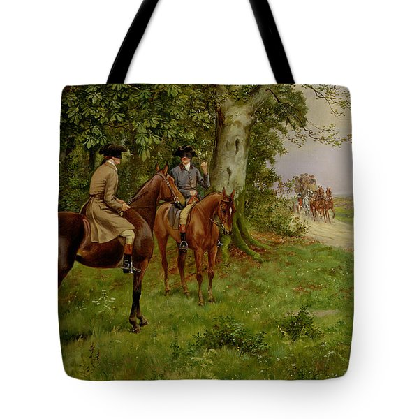 The Highwaymen Tote Bag by George Derville Rowlandson