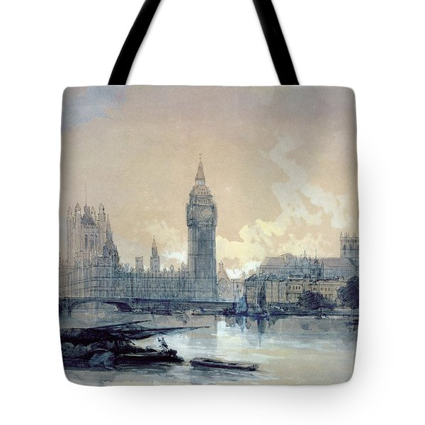 The Houses Of Parliament Tote Bag by David Roberts