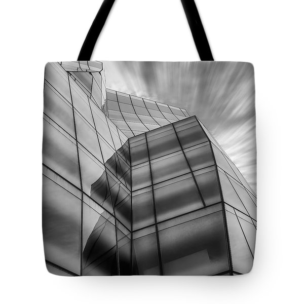 The Iac Building Bw Tote Bag by Susan Candelario
