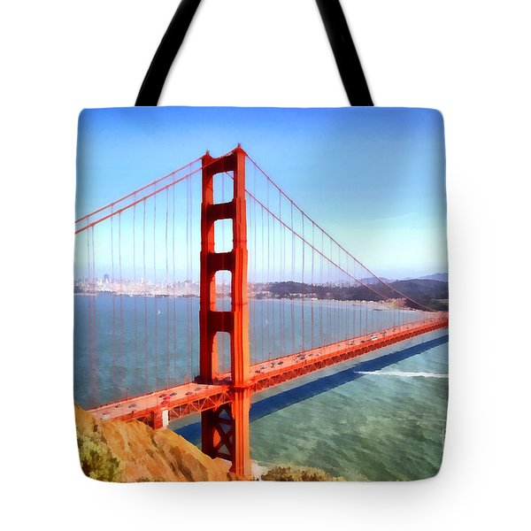 The Iconic San Francisco Golden Gate Bridge . 7d14507 Tote Bag by Wingsdomain Art and Photography