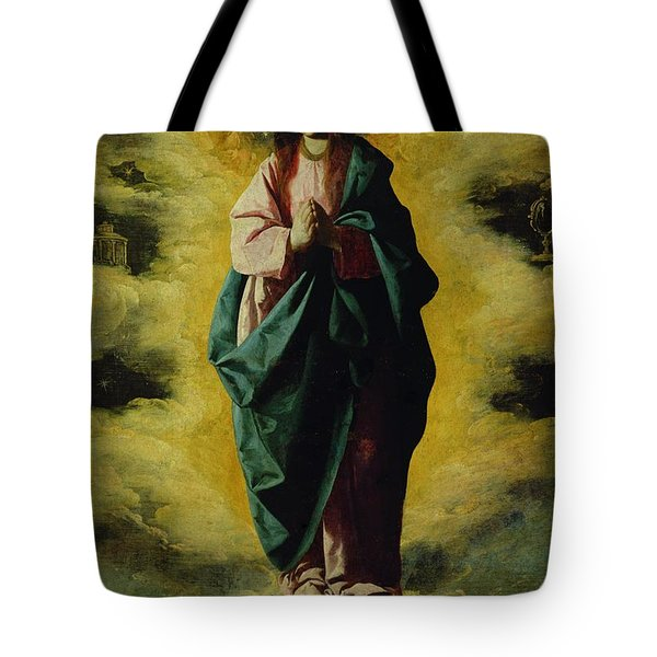 The Immaculate Conception Tote Bag by Francisco de Zurbaran