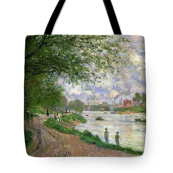 The Island Of La Grande Jatte Tote Bag by Claude Monet