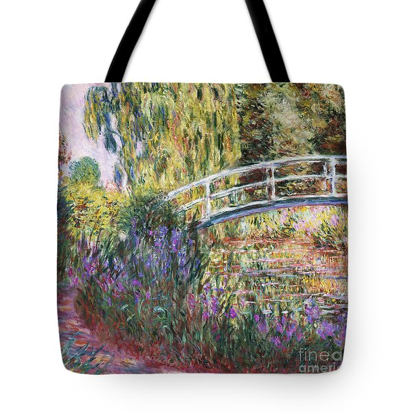 The Japanese Bridge Tote Bag by Claude Monet