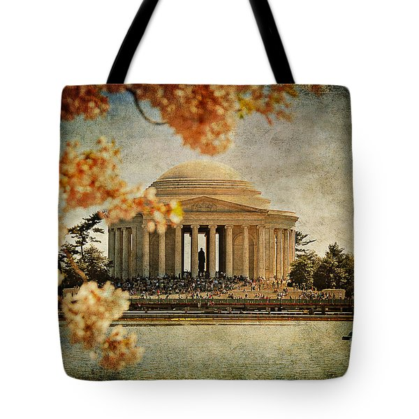 The Jefferson Memorial Tote Bag by Lois Bryan