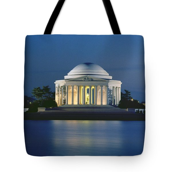 The Jefferson Memorial Tote Bag by Peter Newark American Pictures