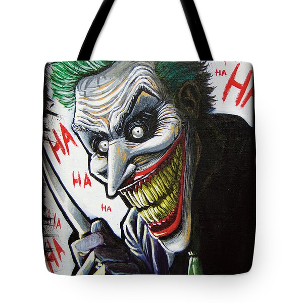 The Joker  Tote Bag by Matthew Tillett