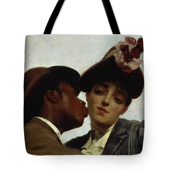 The Kiss Tote Bag by Theodore Jacques Ralli