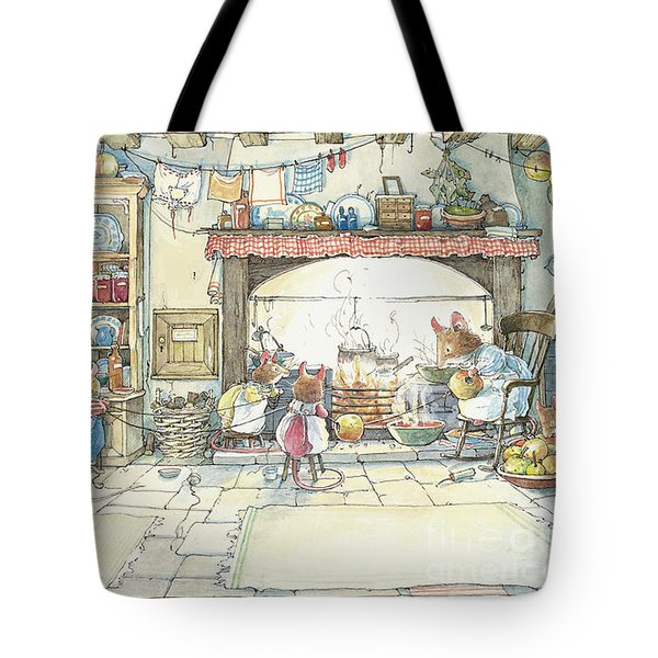 The Kitchen At Crabapple Cottage Tote Bag by Brambly Hedge
