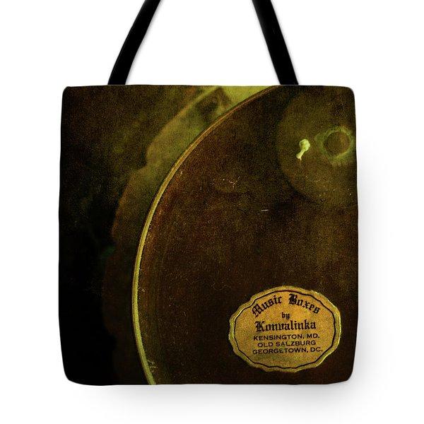 The Konvalinka Music Box Tote Bag by Rebecca Sherman