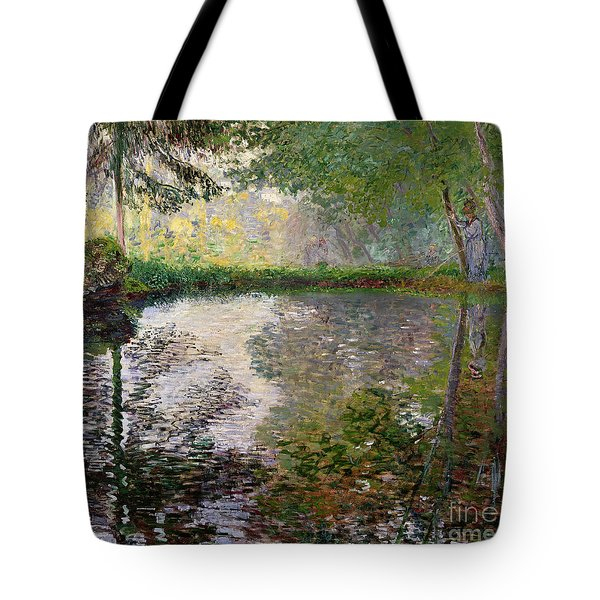 The Lake At Montgeron Tote Bag by Claude Monet