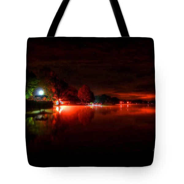 The Lake At Nightfall Tote Bag by Michael Garyet